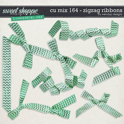 CU Mix 164 - Zigzag Ribbons by WendyP Designs