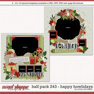 Cindy's Layered Templates - Half Pack 243: Happy Howlidays by Cindy Schneider