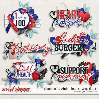 Doctor's Visit: Heart Word Art by Meagan's Creations