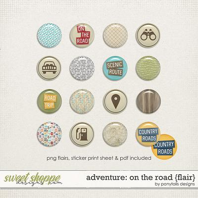 Adventure: On the Road Flair by Ponytails