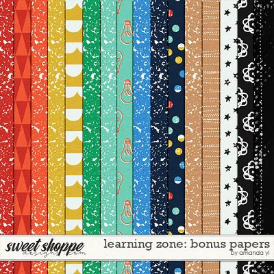 Learning Zone: Bonus Papers by Amanda Yi