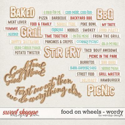 Food on wheels - wordy by WendyP Designs