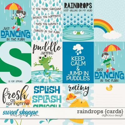 Raindrops {Cards} by Digilicious Design
