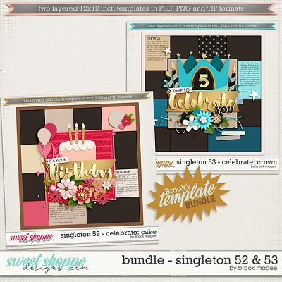 Brook's Templates - Bundle - Singleton 52 & 53 by Brook Magee
