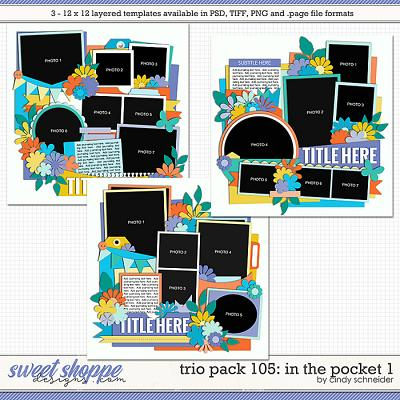 Cindy's Layered Templates - Trio Pack 105: In the Pocket 1 by Cindy Schneider