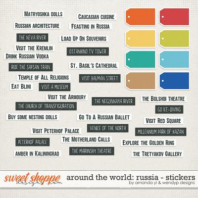Around the world: Russia - Stickers by Amanda Yi & WendyP Designs