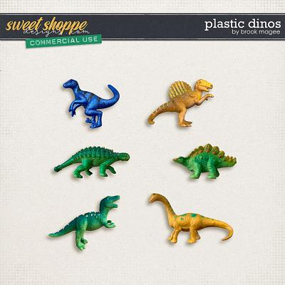 Plastic Dinos - CU - by Brook Magee