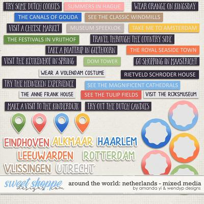 Around the world: Netherlands - Stickers by Amanda Yi & WendyP Designs