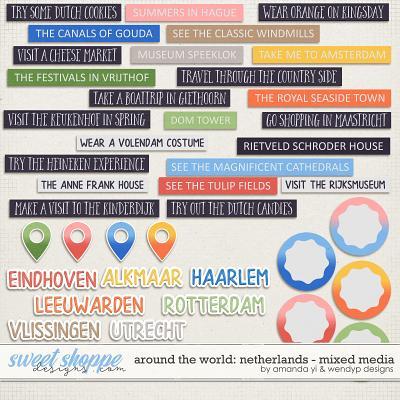 Around the world: Netherlands - Stickers by Amanda Yi & WendyP Designs