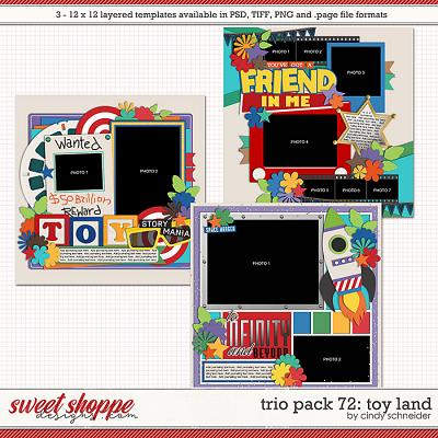 Cindy's Layered Templates - Trio Pack 72: Toy Land by Cindy Schneider