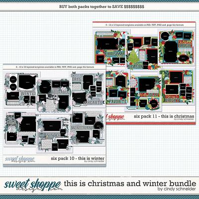Cindy's Layered Templates - This is Winter and Christmas Bundle by Cindy Schneider
