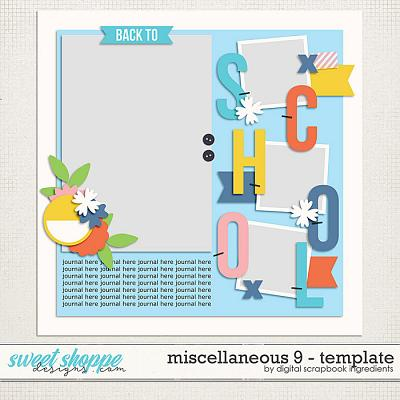 Miscellaneous 9 Template by Digital Scrapbook Ingredients