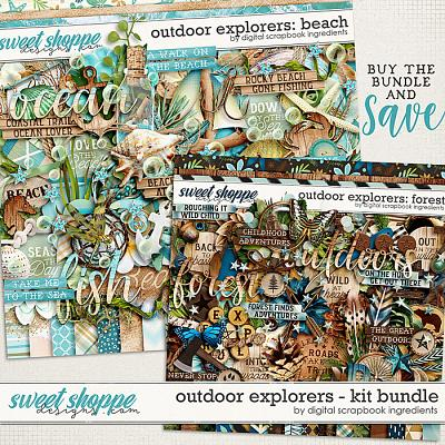 Outdoor Explorers Kit Bundle by Digital Scrapbook Ingredients