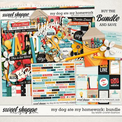 my dog ate my homework: bundle by Kristin Cronin-Barrow