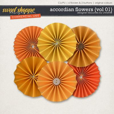 Accordian Flowers {Vol 01} by Christine Mortimer