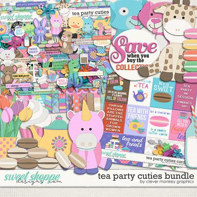 Tea Party Cuties Bundle by Clever Monkey Graphics