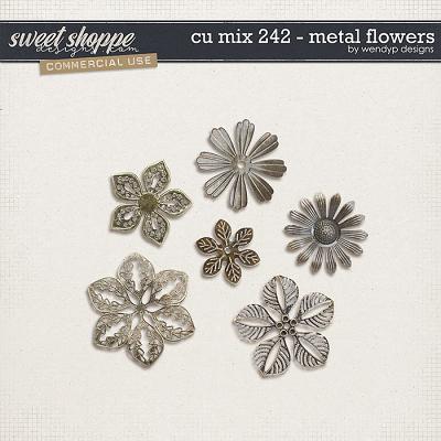 CU mix 242 - Metal flowers by WendyP Designs