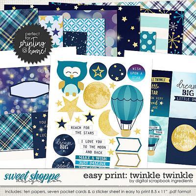 Easy Print: Twinkle Twinkle by Digital Scrapbook Ingredients