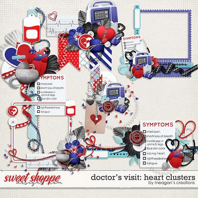 Doctor's Visit: Heart Clusters by Meagan's Creations
