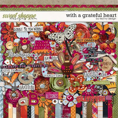 With A Grateful Heart by Red Ivy Design