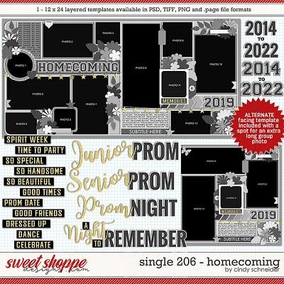 Cindy's Layered Templates - Single 206: Homecoming by Cindy Schneider