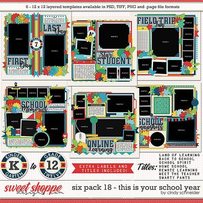 Cindy's Layered Templates - Six Pack 18: This is the School Year by Cindy Schneider