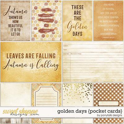 Golden Days Pocket Cards by Ponytails