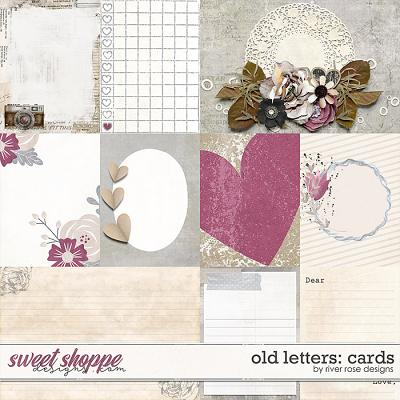 Old Letters: Cards by River Rose Designs