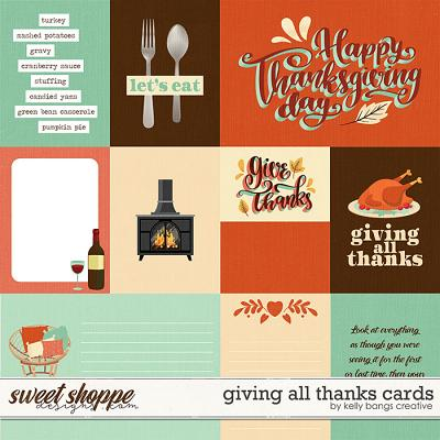 Giving All Thanks Cards by Kelly Bangs Creative