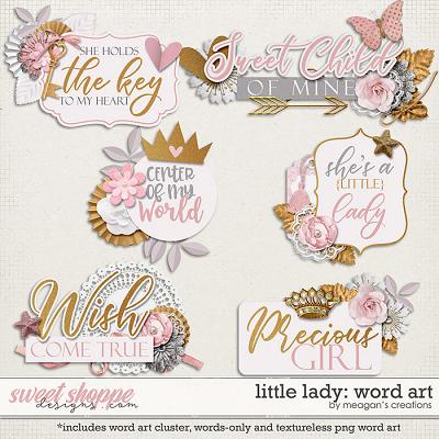 Little Lady: Word Art by Meagan's Creations