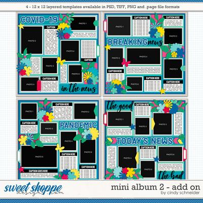 Cindy's Layered Templates - Mini Album 2: Add On by Cindy Schneider