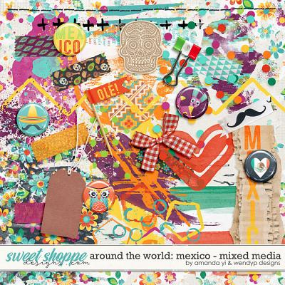 Around the world: Mexico - Mixed Media by Amanda Yi & WendyP Designs