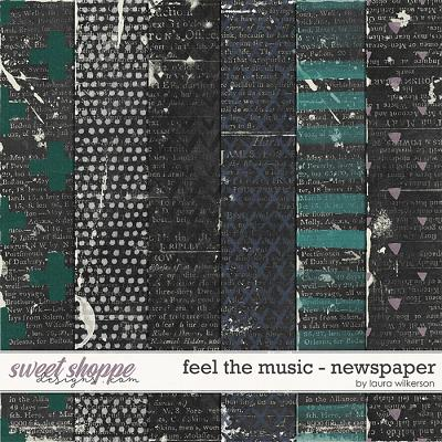Feel the Music: Newspaper by Laura Wilkerson