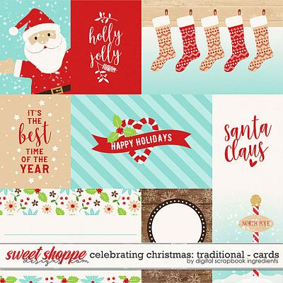 Celebrating Christmas: Traditional | Cards by Digital Scrapbook Ingredients