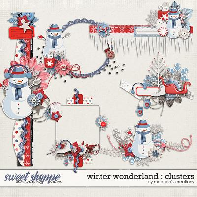 Winter Wonderland : Clusters by Meagan's Creations
