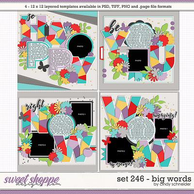 Cindy's Layered Templates - Set 246: Big Words by Cindy Schneider
