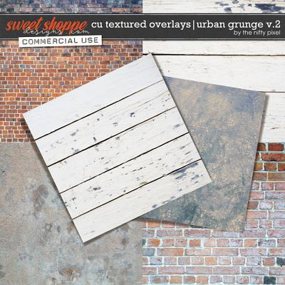 CU TEXTURED OVERLAYS | URBAN GRUNGE V.2 by The Nifty Pixel