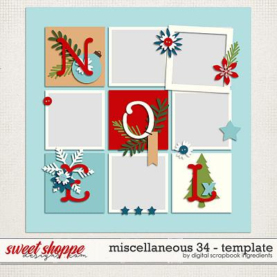 Miscellaneous 34 Template by Digital Scrapbook Ingredients