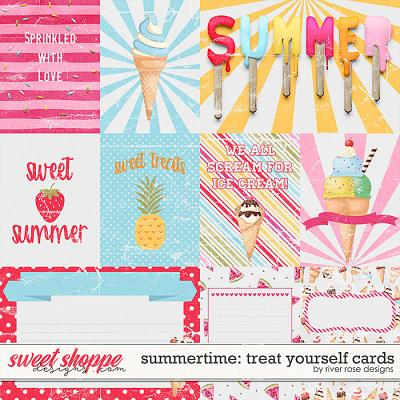 Summertime: Treat Yourself Cards by River Rose Designs