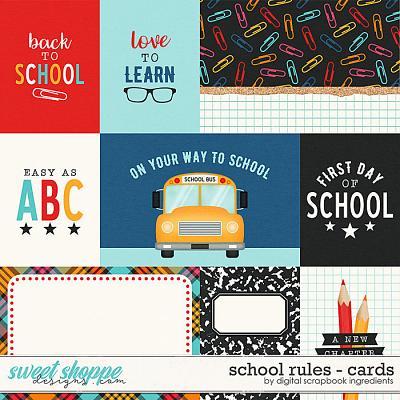 School Rules | Cards by Digital Scrapbook Ingredients