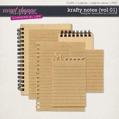 Krafty Notes {Vol 01} by Christine Mortimer