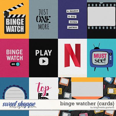 Binge Watcher {cards} by Blagovesta Gosheva