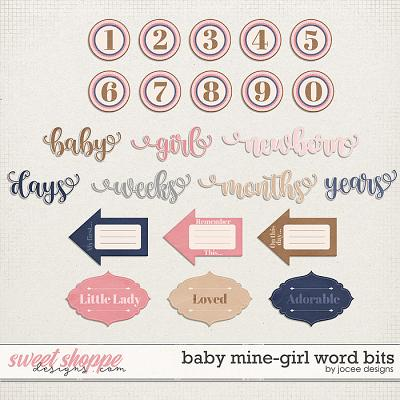 Baby Mine-Girl Word Bits by JoCee Designs