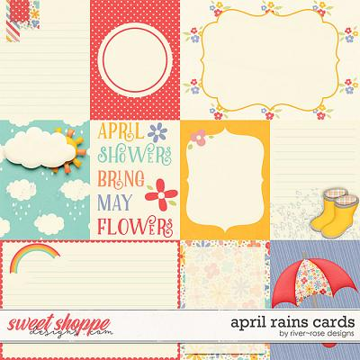 April Rains Cards by River Rose Designs