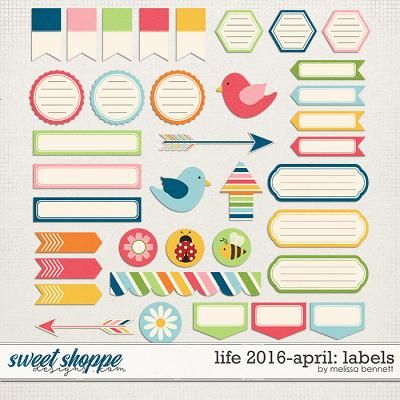 Life 2016-April: Labels by Melissa Bennett