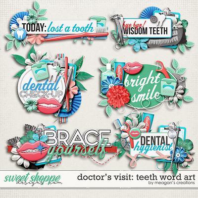 Doctor's Visit: Teeth Word Art by Meagan's Creations