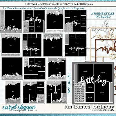 Cindy's Layered Templates - Fun Frames: Birthday by Cindy Schneider