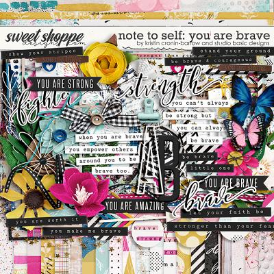 Note To Self: You Are Brave Kit by Kristin Cronin-Barrow & Studio Basic