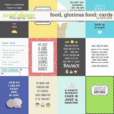 Food, Glorious Food: Cards by Erica Zane