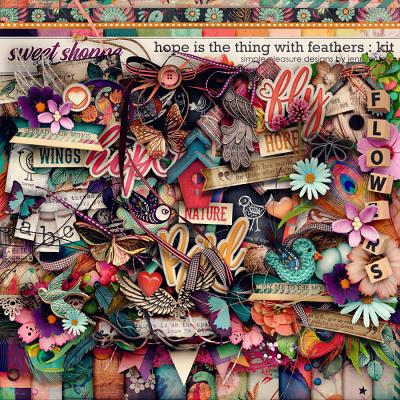 hope is the thing with feathers kit: simple pleasure designs by jennifer fehr
